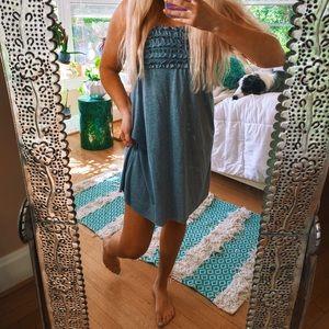 Ruffle Strapless Beach Dress 🌈